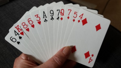 how to hold playing cards